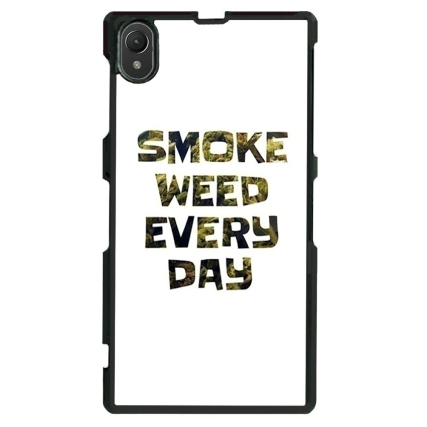 Weed Hipster Quote Pattern Phone Case for Sony Xperia Z1 L39h (White)