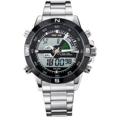WEIDE Mens Sports Multi-function Military Watch Quartz Analog-Digital Watches