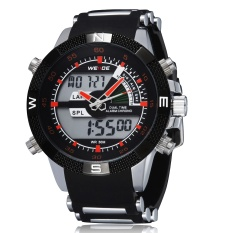 Weide WH1104-P Fashion Digital Quartz Rubber Strap Men Wristwatches (Orange)