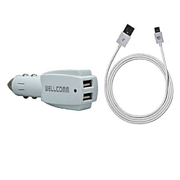 Wellcomm Car Charger 3.1A - Putih