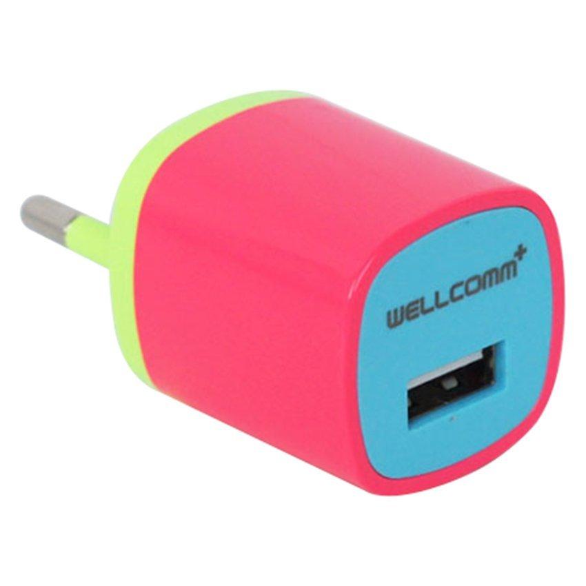 Wellcomm PwerBox Rainbow Series - Merah Muda