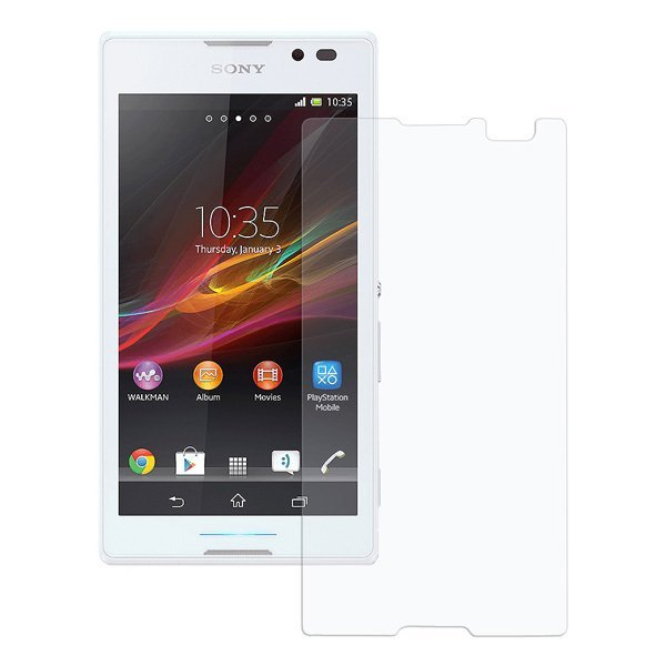 Wellcomm Screen Protector Easy Wipe Sony Xperia C