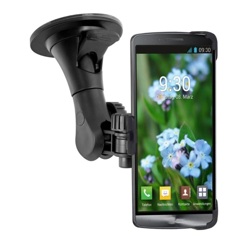 Windscreen Strong Car Holder for LG G3 D850 windshield mount Black (Intl)