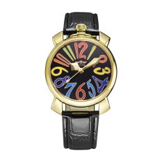 WINNER Fashion Women Automatic Mechanical Watch Self-winding Eye-catching Skeleton Hollowed-out Wristwatch With Colorful Hour Markers