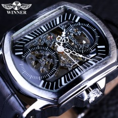 Winner Retro Classic Designer Silver Stainless Steel Case Top Brand Luxury Mechanical Automatic Watch - Intl