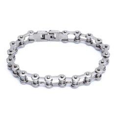WiseBuy Men Bracelet Bangle Stainless Steel Bike Chain Design Gorgeous Fashion 223X10mm - Intl