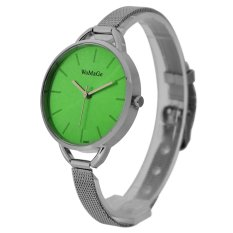 WoMaGe Thin Wire Reticularis Women's Silver Stainless Steel Strap Watch 994004 (Green)