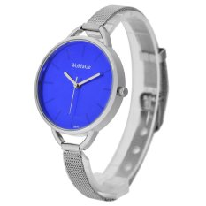 WoMaGe Thin Wire Reticularis Women's Silver Stainless Steel Strap Watch 994012 (Blue) (Intl)