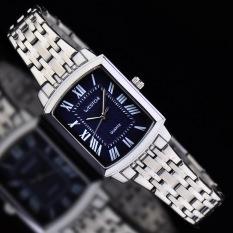 Womdee Authentic West Chi Westchi Fashion Square Silver Lady Square Quartz Watch W6126L (1 X Men Watch)