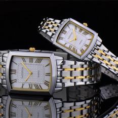 Womdee Authentic West Chi Westchi Fashion Square Silver Lady Square Quartz Watch W6126L (Couple Watch)