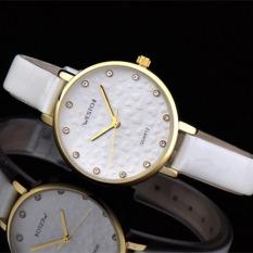 Womdee Authentic West Chi Westchi Fashion Watch Drill Scale Silver Shell Belt Quartz Watch W3128L