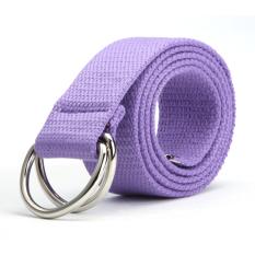 Women And Men Bicyclic Canvas Belt (Purple)