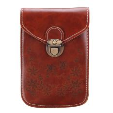 Women Girl Mini Crossbody Messenger Bag Purse Shoulder Mobile Phone Handbag HOT Brown - Intl
