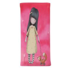 Women Lady Faux Leather PU Girl Print Card Holder Long Purse Wallet Handbag Long Card Holder Handbag Bag Clutch Purse Rose Red - INTL