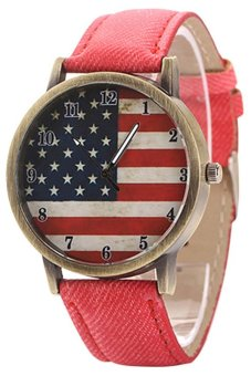 Women's Red Denim Strap Watch 60BL017
