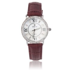 WWOOR WWOOR Elegant Crystal Women Round Quartz Wrist Watch Office Lady Watch