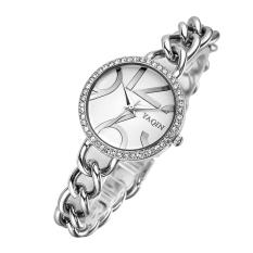Xaqiwe Genuine YAQIN Yaqin Watch Female Models 7194 Women's Fashion Watch Fashion Bracelet Watch Girls (Silver)