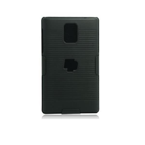 XCase Blackberry Passport Slim Rubberized with Clip Belt - Hitam