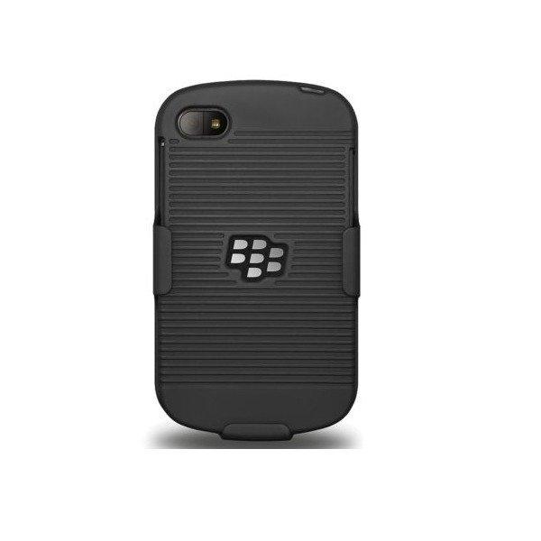 XCase Blackberry Q10 Slim Rubberized Case with Clip Belt - Hitam