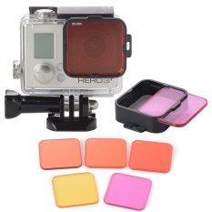 XCSource 5pcs Professional Diving Filter Lens Set for GoPro 3+/4 LF722