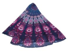 Xfsmy Mandala Beach Chiffon Beach Blanket (Purple)