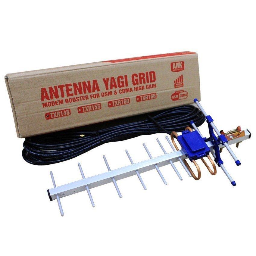 Yagi Antena Modem ZTE MF70 - Yagi TXR145 + Gratis Kabel RG6 15 Meter + Pigtail Modem