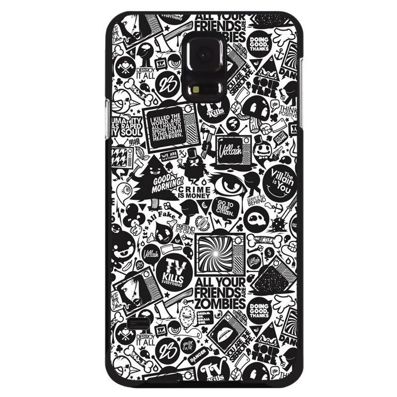 Y&M Abstract Black Pattern Phone Case Samsung Galaxy S5 (Multicolor)