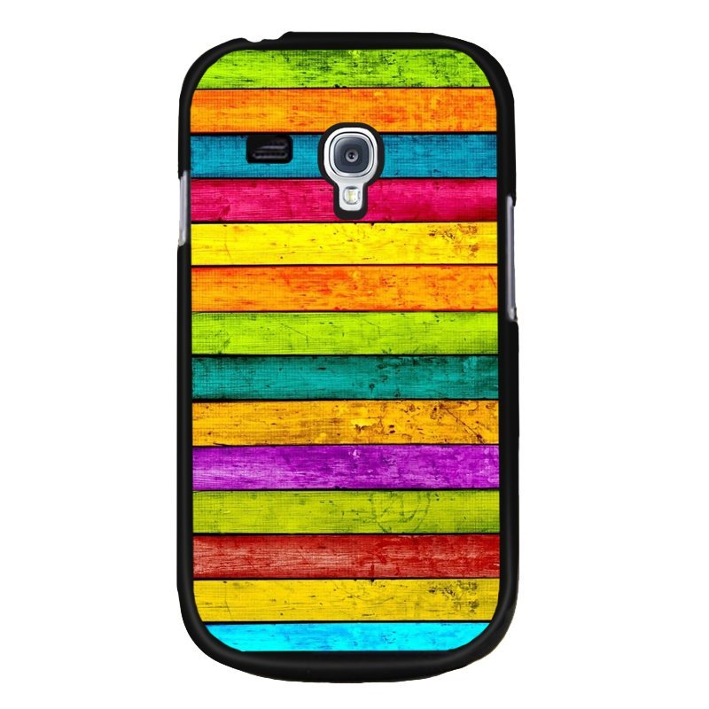 Y&M Abstract Painting Stripes Samsung Galaxy S3 Mini Phone Cover (Multicolor)