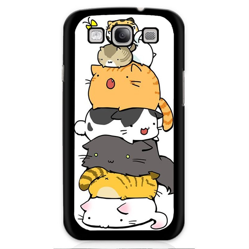 Y&M Black Kitten Yellow Cat Phone Case for Samsung Galaxy S3 (Multicolor)
