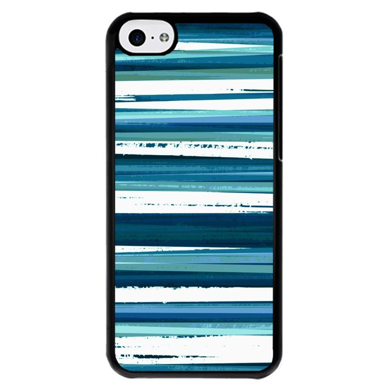 Y&M Blue Stripes Phone iPhone 5C Case (Multicolor)