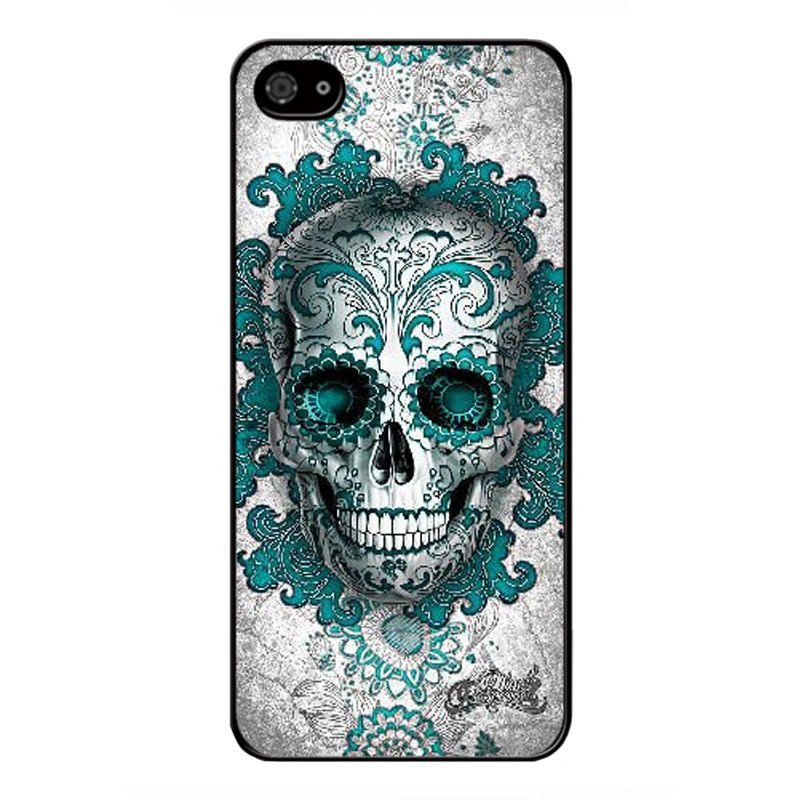 Y&M Cell Phone Case For iPhone 5/5s Fashion Skull Art Pattern Cover (Multicolor)