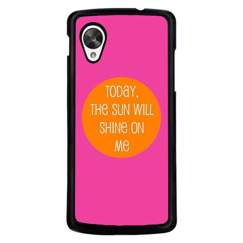 Y&M Cell Phone Case For LG NEXUS 5 Pink Simple Printed Cover (Multicolor)