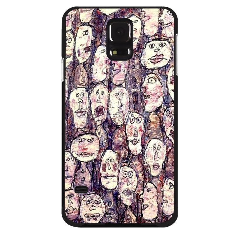 Y&M Cell Phone Case For Samsung Galaxy S5 Funny Hand Draw Pattern Cover (Multicolor)