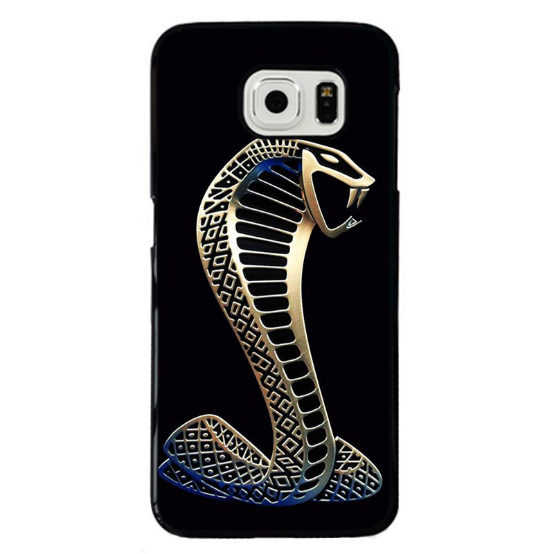 Y&M Cool Gold Snake Phone Case for Samsung Galaxy S6 (Black)