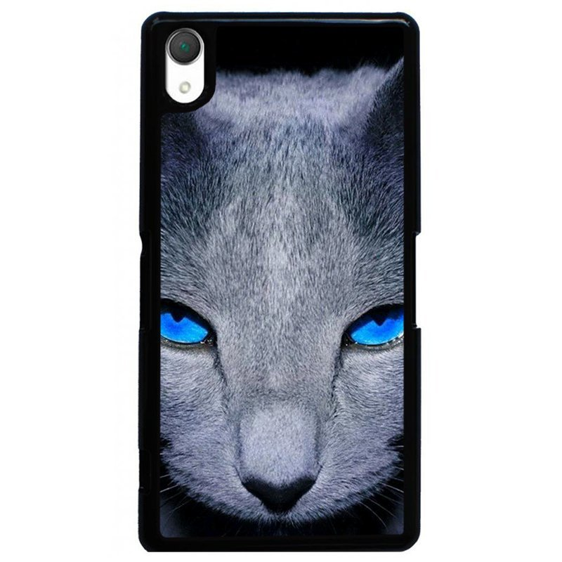 Y&M Evil Cat Eyes Phone Case for SONY Xperia Z3 Multicolor
