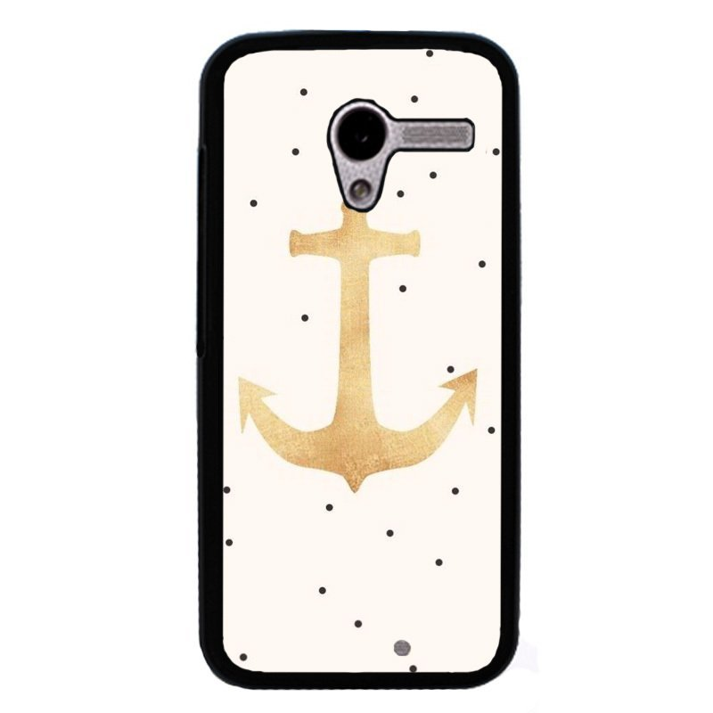 Y&M Fashion Anchor Phone Case for Motorola Moto X (Black)