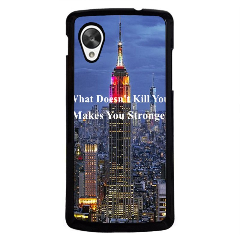 Y&M Make You Strong City View Phone Case for LG Nexus 5 Blue