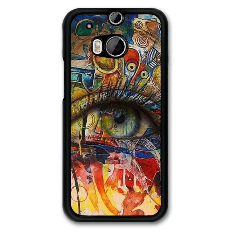 Y&M Painting Eyes Art HTC M8 Phone Cover (Multicolor)