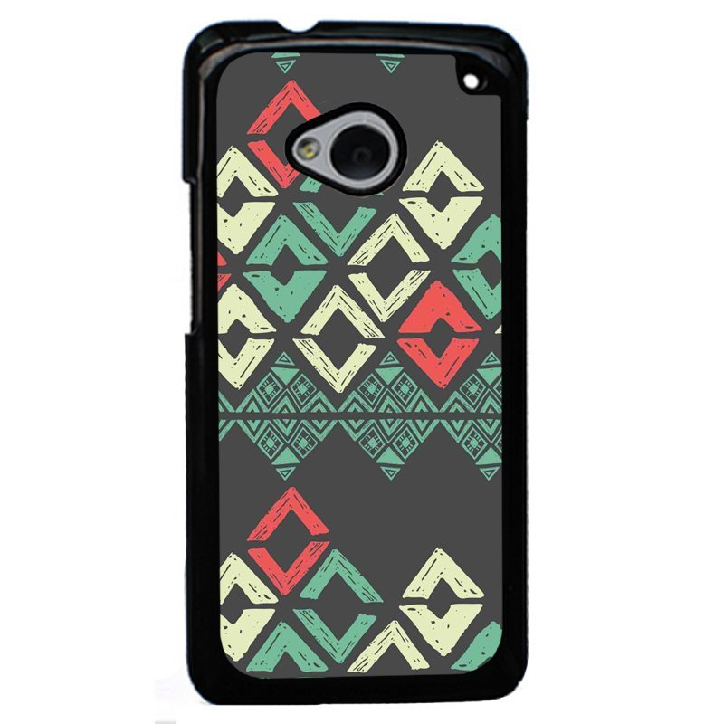 Y&M Personality Aztec Pattern Case for HTC M7 (Black)