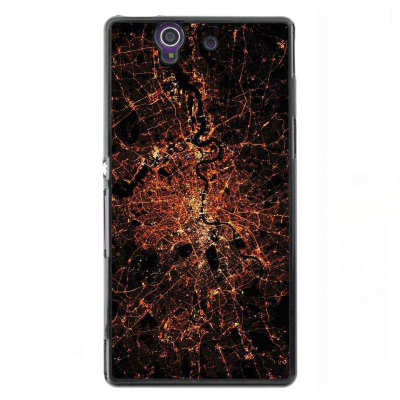 Y&M Personality Broken Glasses Phone Case for Sony L36H Black
