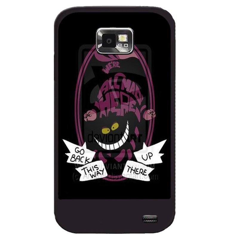 Y&M Phone Case For Samsung Galaxy S2 Cheshire Cat Printed Cover (Multicolor)