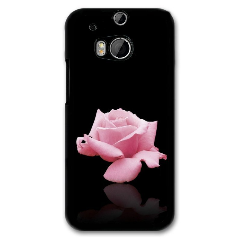 Y&M Pink Rose Pattern Phone Case for Htc M8 Multicolor