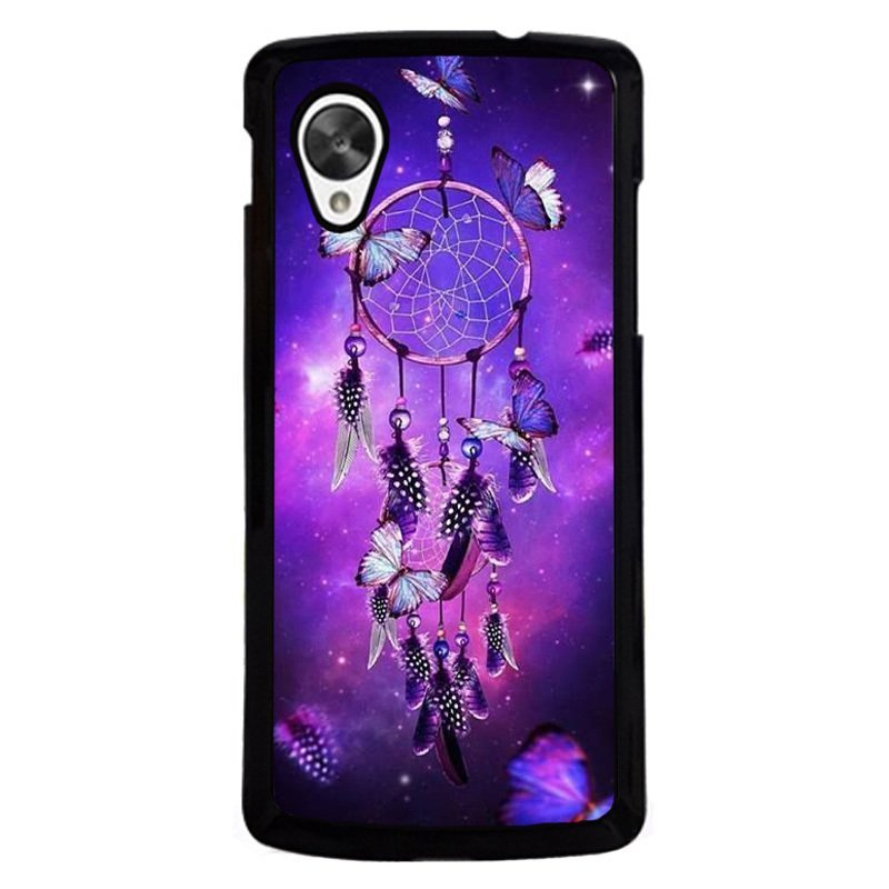 Y&M Purple Dream Cather Butterfly Phone LG Nexus 5 Case Black