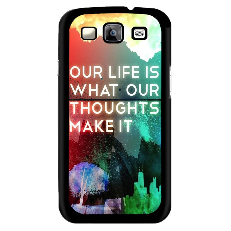 Y&M Samsung Galaxy E7 Our Life Is What We Make It Phone Case (Multicolor)