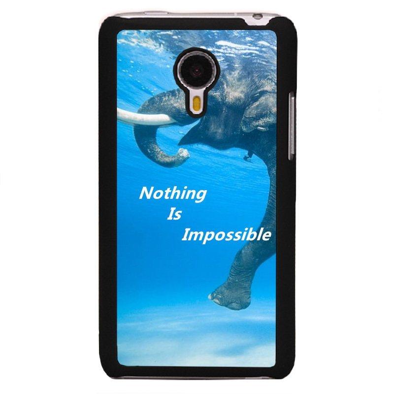Y&M Swimming Elephant In Pool Pattern Phone Case for Meizu MX4 Black