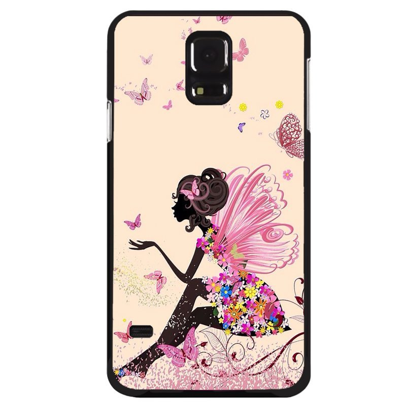 Y&M Vintage Butterfly Girl Samsung Galaxy S5 Mini Phone Case (Multicolor)