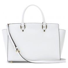 YBC Fashion Women Leather Shoulder Bag Tote Bag Handbag White