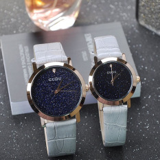 Yedatun GUOU New Personalized Fashion Leather Watch Watch With A Blue Sky Sand Chassis Ladies Watch