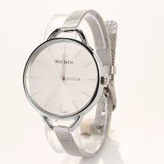Yidabo Fashion Luxury Gold / Silver Quartz Lady Women Wrist Watch (Silver)