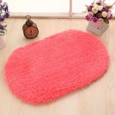 Yika 80*120cm Soft Kitchen Bathroom Door Floor Non-Slip Mat Carpet Rug (Red)